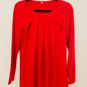 3/25$ Beautiful red frill detail blouse top S